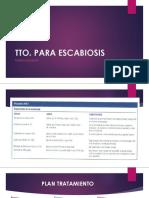 ESCABIOSIS - TRATAMIENTO