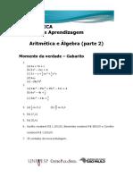 UA 6 Matemática M.v. Gabarito
