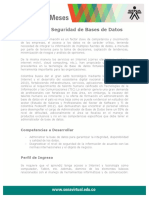 Gestion Seguridad Base Datos