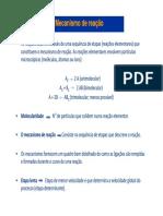 3a e 4a Aulas Cinética Mecanismo e Catálise [Modo de Compatibilidade]