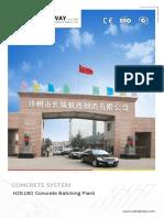180m³/h concrete mixing plant