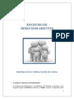 Instructivo Registro de Derechohabientes