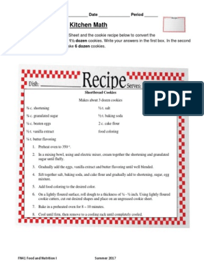 13 fn41 2 05 kitchen math | Cakes | Baking Math In The Kitchen Worksheet Answers on math project answers, math sheet answers, math test answers, math enrichment worksheets, math lessons answers, math table answers, worksheets and answers, math puzzle answers, math graphing worksheets,