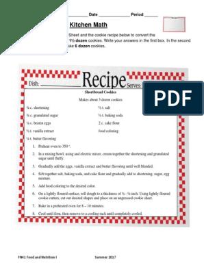 13 Fn41 2 05 Kitchen Math Cakes Baking