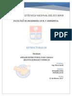 ANÁLSIS ESTRUCTURAL PARA CARGAS GRAVITACIONALES Y SÍSMICAS