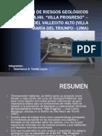 ESTIMACIÓN DE RIESGOS GEOLÓGICOS DEL AA. HH. VILLA PROGRESO.pptx