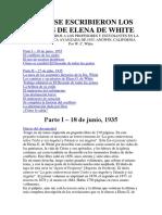 Cómo Se Escribieron Los Libros de Elena de White
