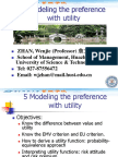 5 Modeling the Preference With Utility
