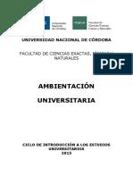 Ambientacion Universitaria ME CINEU 2015