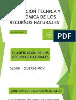 CLASIFICACION DE LOS RECURSOS NATURALES SEGUN GUERSINOV
