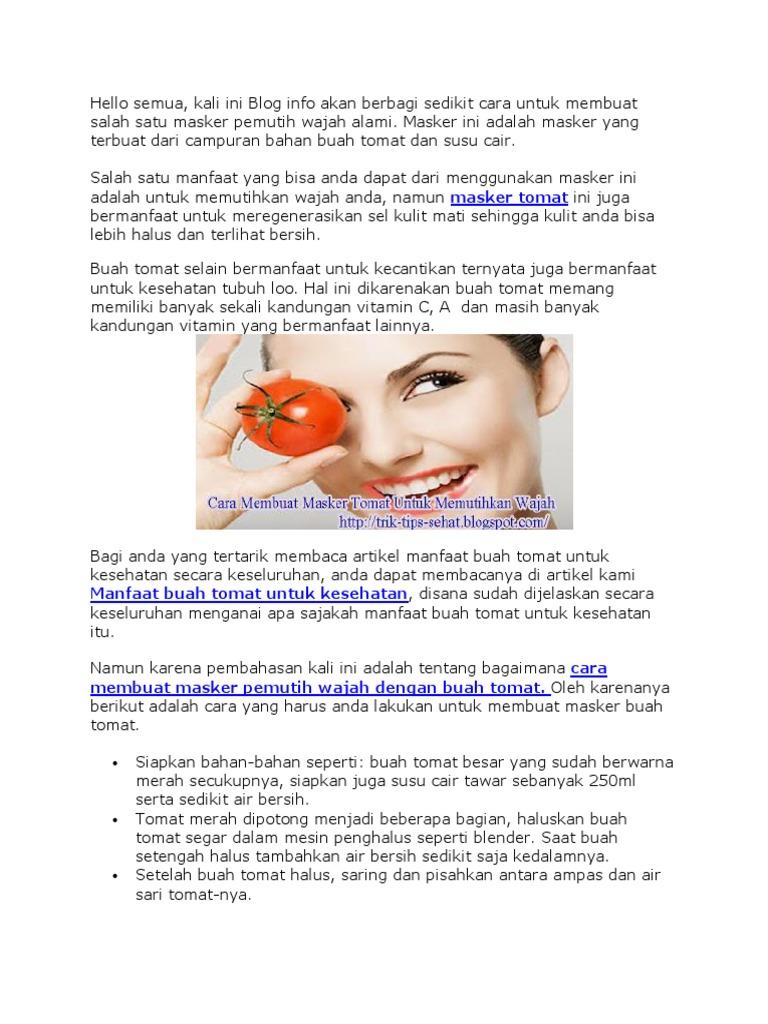 Masker Tomat Docx