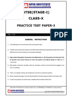 NTSE Stage -1 Mock Test -3