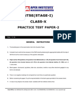 NTSE Stage -1 Mock Test- 2