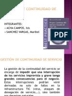 Continuidad de Servicio