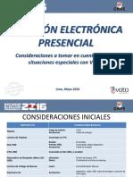 Consideraciones Para Jornada Electoral VEP - SEP 2016 v 2.0