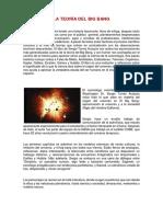 Teoria de Bin Bang, Pangea y Formacion de Continentes