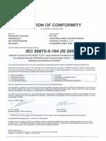 37561 KEMA Certificate IEC870!5!104