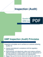 Gmp audit inspections and audit preparations