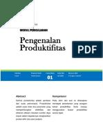 Modul 1 Analisa Produktifitas