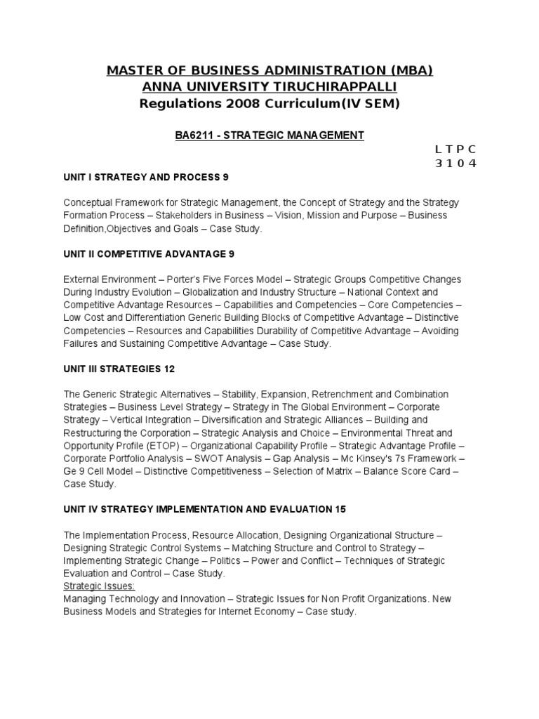 Strategic Management Notes For Mba 4th Sem Pdf Merger - pastvm