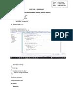 Array Program Tugas 4 Struktur Data Komputer