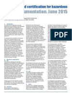 Standards & Certification for Hazardous Area Instrumentation (2015)