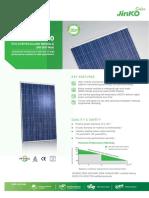 Jinko245w t JKMS245P 60 Poly Vico Export Solar Energy
