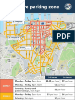 City Centre Parking Zone Map From 11 July 2016