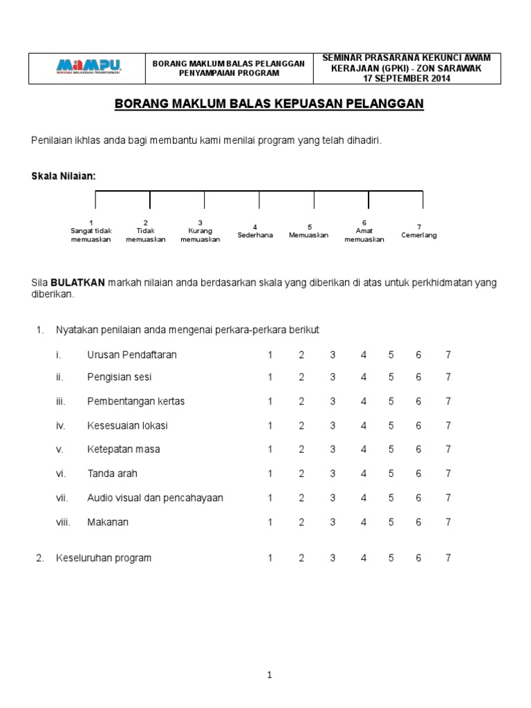 Borang Maklumbalas Seminar Gpki Zon Sarawak V1 0