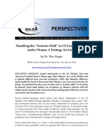 BESA Center Perspectives Paper No 112, Jul12-10 [Max Singer -- Handling the Tectonic Shift in US Foreign Policy Under Obama, A Strategy for Israel]