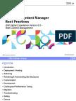XDx WCM 8.5 Best Practices