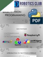Basic Python Workshop
