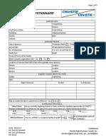 Christie Supplier Questionnaire