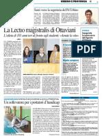 La Lectio Magistralis di Ottaviani - Il Resto del Carlino del 24 ottobre 2017