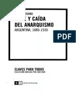 Juan Suriano -Auge y Caida Del Anarquismo Argentina 1880-1930