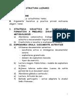 Structura-capitole Lucrare Grad 1