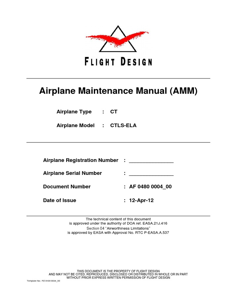 Fligt Design CTLS Airplane Maintenance Manual (AMM) | Airspeed | Visual  Flight Rules