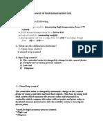 Answer of Instrumentation Test