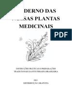 Caderno Nossas Plantas Medicinais
