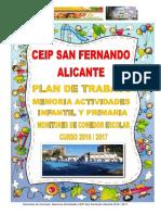 Memoria Actividades Inf y Primaria San Fernando 2016 - 201…