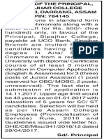 AssamVacacny.in(Sipajhar College Darrang Recruitment-Junior Assistants)