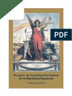 Proyecto de Constitucion Federal I Republica Esp