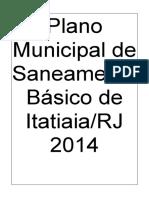 Plano Municipal de Saneamento Básico do Município de Itatiaia