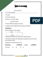 Série Dexercices - Physique - 8ème (2012-2013) Mr Bouzidi Abdessamad