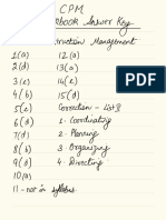 Cpm Workbook Key