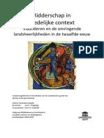 Ridderschap in stedelijke context Vlaanderen en de omringende landsheerlijkheden in de twaalfde eeuw