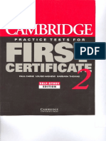 1 - Cambridge Practice Tests for First Certificate 2 Self-study Edition(2)
