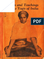 Lives and Teachings of the Yogis of India