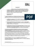 COMUNICADO - Archivo Campaña Zuluaga-Octubre 2017