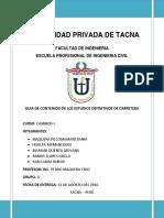 Camin (IE) Informe de Estudio Definitivo de Carretera PROYECTO